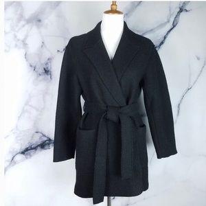 jcrew wrap coat boiled wool sz xxs new with tag